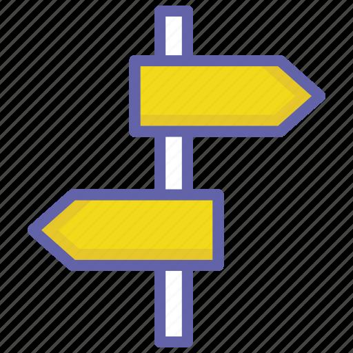 Direction board, gps, navigation, post, sign, sign board icon - Download on Iconfinder