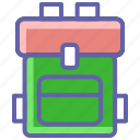 backpack, bag, tourist, travel, trekking, trekking bag icon