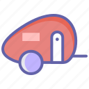 camping, caravan, picnic, trailer, transport, travel icon