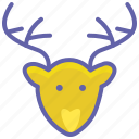 animal, bear, christmas, deer, forest, reindeer