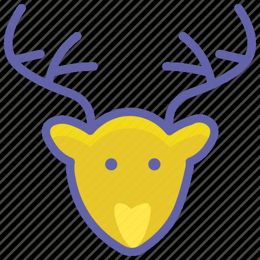animal, bear, christmas, deer, forest, reindeer icon