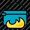 pot, camping, cooking, adventure