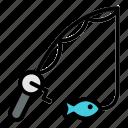 fishing, rod, fish, fisherman