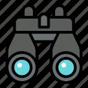 binoculars, explore, adventure, camping