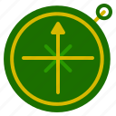 camping, compass, location, map, outdoor icon
