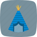 tipi, tent, camping icon