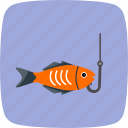 fishing, hook, rod icon