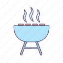 cook, grill, party icon