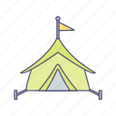 camp, camping, tent, tipi icon