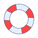 life preserver, protection, safety icon