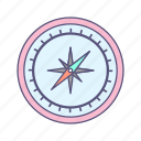 compass, direction, navigation icon