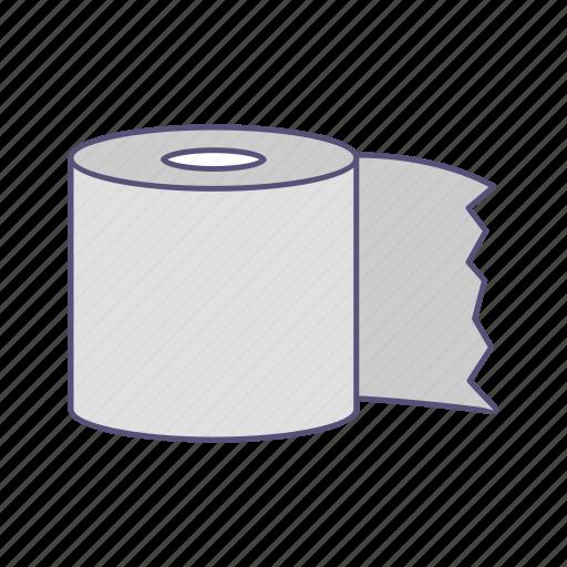 paper, tissue, toilet, toilet paper icon