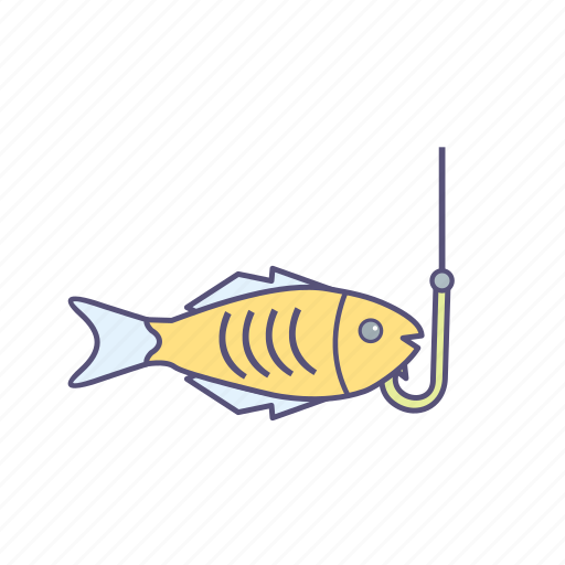 fishing, hook, sea food icon