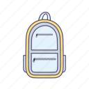 bagpack, pack, travel icon