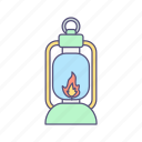 lamp, lantern, light icon