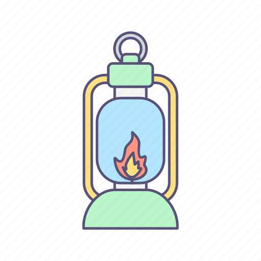 lamp, lantern, light icon