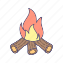 bonfire, camping, outdoor icon