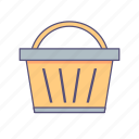 basket, camping, cart, picnic icon