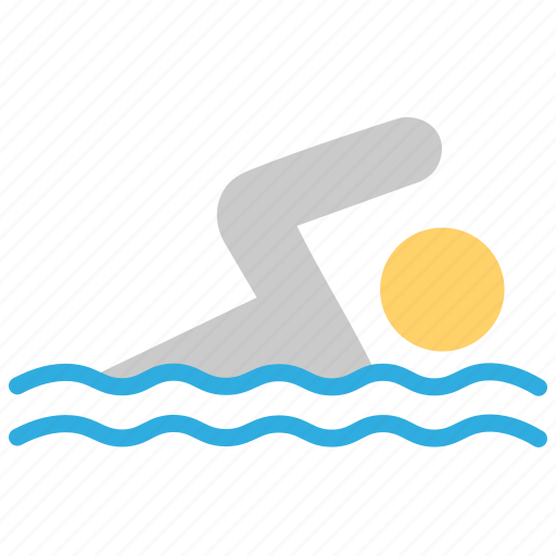 exercise, pool, swim, swimmer, swimming, water games icon