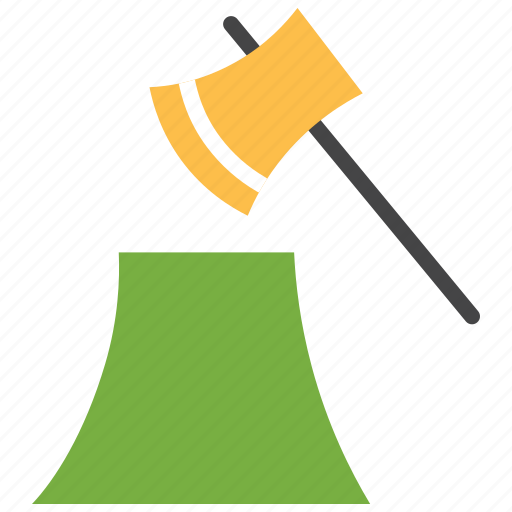 axe, camping, chop, cutting, tool, wood cutting icon