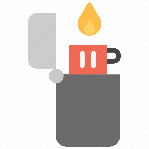 flame, flint, gas, ignition, lighter, smoking icon