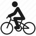 bicycle, bike, biker, cycle, cycling, sport icon