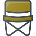 campin, fishing, seat icon