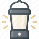camping, lamp icon