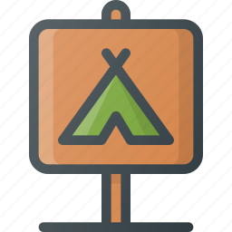 camping, place, relax icon