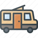 camping, car, home, wagon