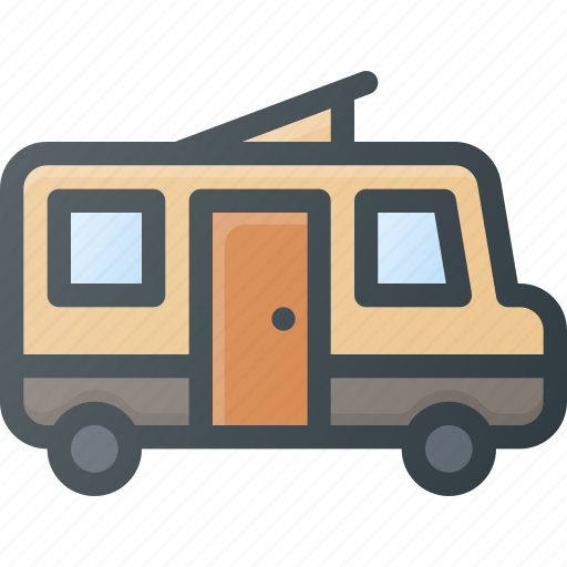 Camping, car, home, wagon icon - Download on Iconfinder