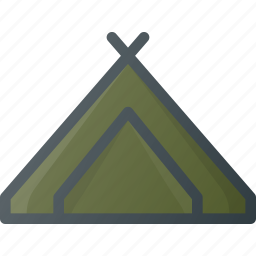 camping, hiking, tent icon