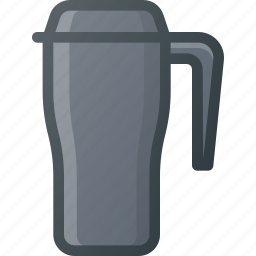 coffee, cup, hot, tea, thermos icon