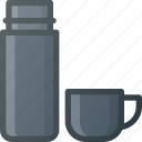 coffee, hod, tea, thermos icon