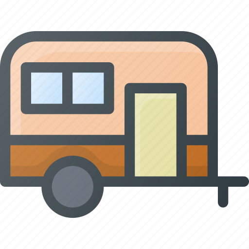 camping, car, sleep, trailer icon