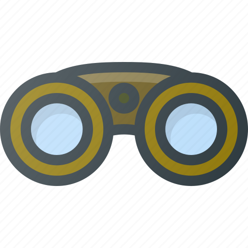 binoculars, camping, hiking icon