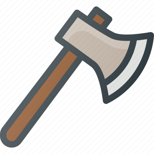 axe, camping, hiking, tool icon