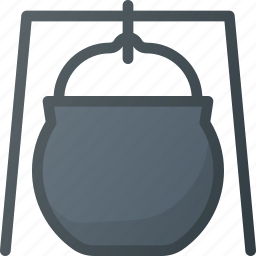 caldron, camping, hiking, tool icon