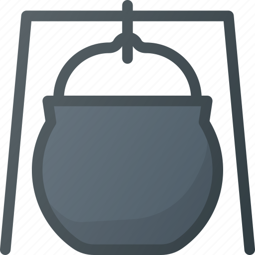 Caldron, camping, hiking, tool icon - Download on Iconfinder