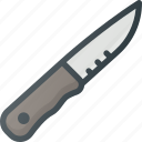 camping, hiking, knife, tool icon