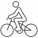 bicycle, bike, biker, cycle, cycling, healthy, sport icon