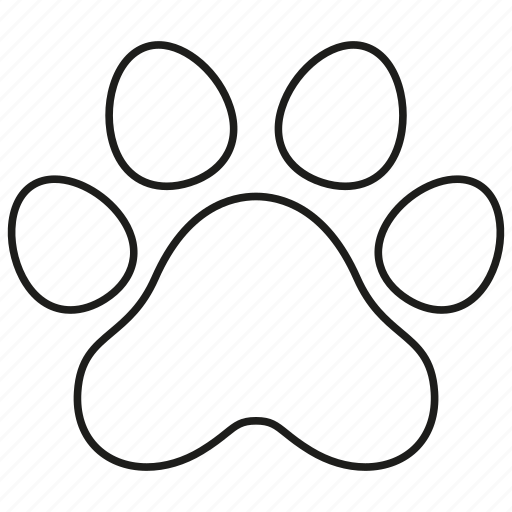 animal, dog, paw, pet, print icon