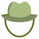 camping, hat, outdoor, tie icon