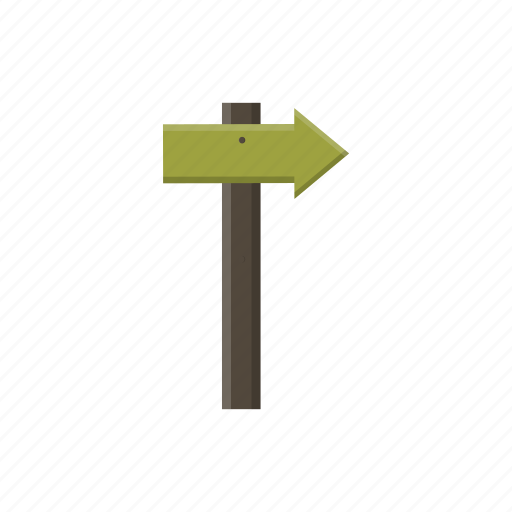 adventure, board, camping, direction, wooden icon