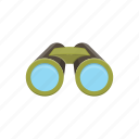 adventure, binoculars, camping, equipment, tools icon