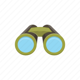 adventure, binoculars, camping, equipment, tools icon