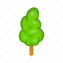 cartoon, forest, grass, green, landscape, nature, tree icon
