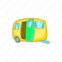 car, cartoon, mobile, trailer, transport, travel, vehicle icon