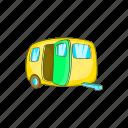 car, cartoon, mobile, trailer, transport, travel, vehicle