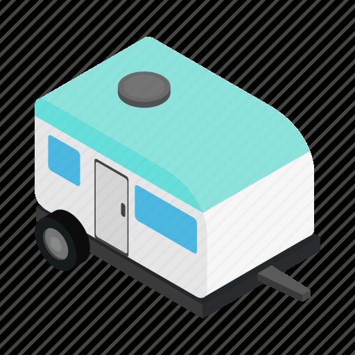 caravan, isometric, motorhome, outdoor, trailer, travel, truck icon